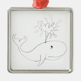 Ornamento De Metal Desenho criançola da baleia