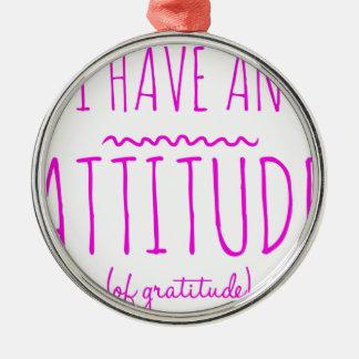 Ornamento De Metal Desintoxicação AA da recuperação da gratitude da