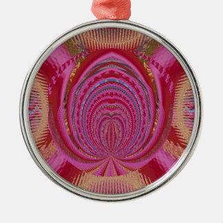 Ornamento De Metal Do rosa romance do EMBLEMA do amor do coração seda