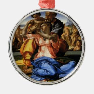 Ornamento De Metal Doni Tondo ou Doni Madonna por Michelangelo