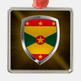 Ornamento De Metal Emblema de Grenada Mettalic