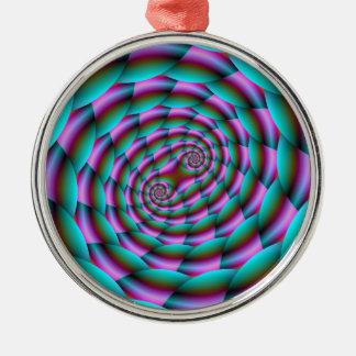 Ornamento De Metal Espiral da pele de cobra na turquesa e no