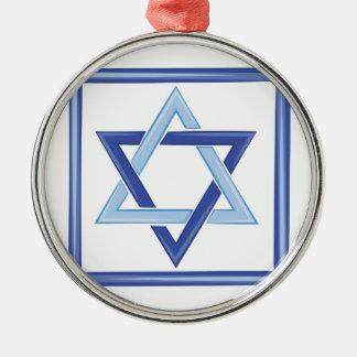 Ornamento De Metal Estrela de David