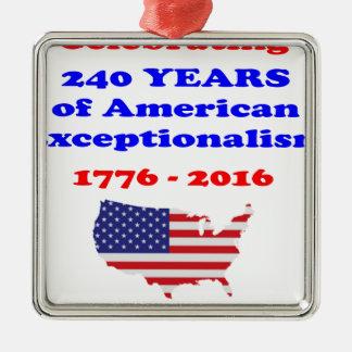 Ornamento De Metal Exceptionalism americano