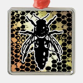 Ornamento De Metal Favo de mel da abelha geométrico