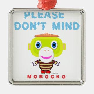 Ornamento De Metal Faz por favor não o Macaco-Morocko Mente-Bonito