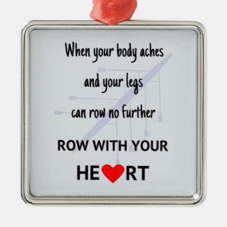 Ornamento De Metal Fileira com sua motivação do coração