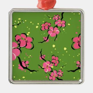 Ornamento De Metal Flores japonesas