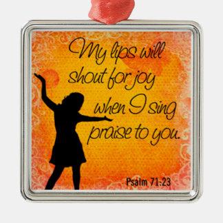 Ornamento De Metal fundo da laranja do 71:23 do salmo