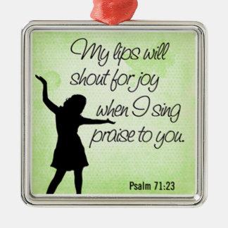 Ornamento De Metal fundo do verde do 71:23 do salmo
