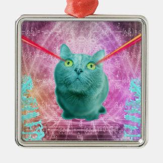 Ornamento De Metal Gato com olhos do laser