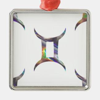 Ornamento De Metal Gêmeos do holograma