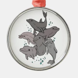 Ornamento De Metal Golfinhos brincalhão