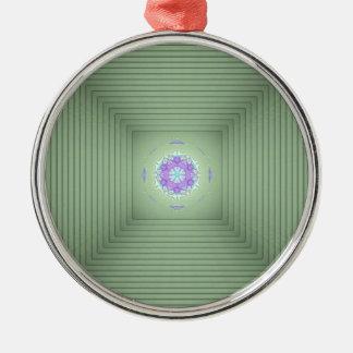 Ornamento De Metal Ilusão óptica da lavanda 3D verde rara legal