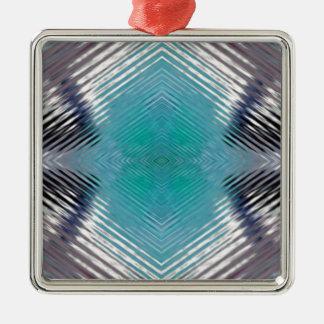 Ornamento De Metal Ilusão óptica do borrão do preto da cerceta de