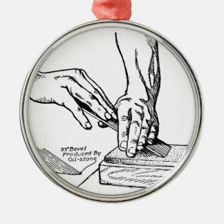 Ornamento De Metal Ilustração Whetting do ferro
