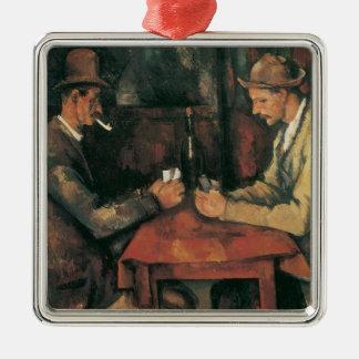 Ornamento De Metal Jogadores de cartão por Paul Cezanne, belas artes