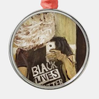 Ornamento De Metal John Brown Selfie/matéria preta das vidas