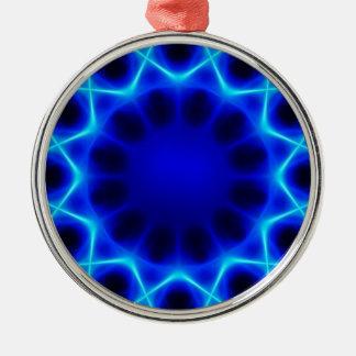 Ornamento De Metal laser azul #2