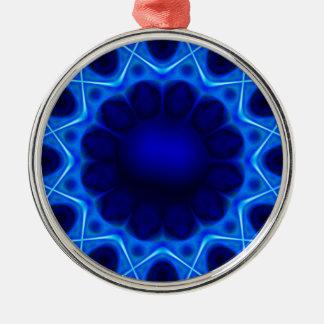 Ornamento De Metal laser azul #3