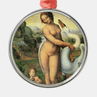 Ornamento De Metal Leda e a cisne por Leonardo da Vinci