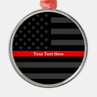 Ornamento De Metal Linha vermelha fina personalizada lembrança