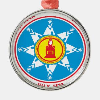 Ornamento De Metal Logotipo ereto do tribo da rocha