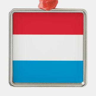 Ornamento De Metal Luxembourg EMBANDEIRA