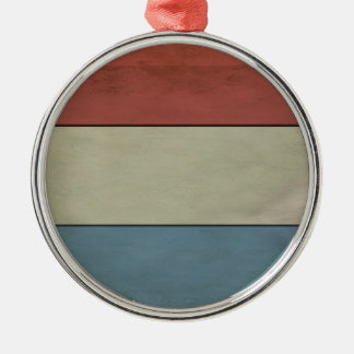 Ornamento De Metal Luxembourg embandeira (grunged)