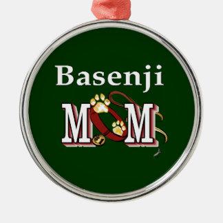 Ornamento De Metal Mamã de Basenji