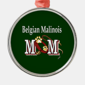 Ornamento De Metal Mamã de Malinois do belga