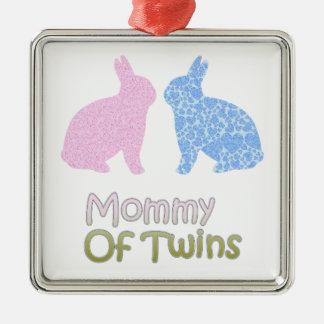 Ornamento De Metal Mamães gêmeas
