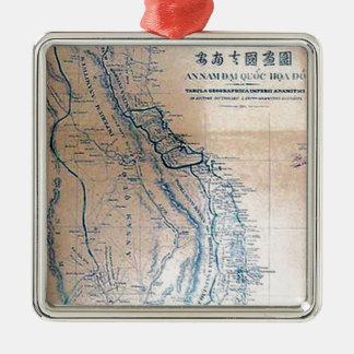 Ornamento De Metal Mapa vietnamiano antigo