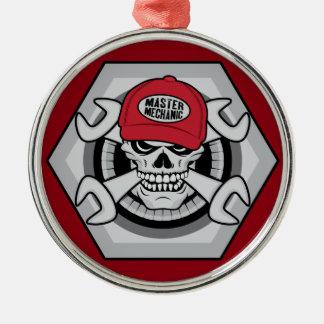 Ornamento De Metal Mecânico Skull-01