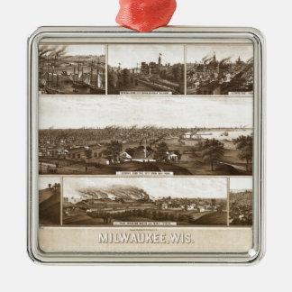 Ornamento De Metal Milwaukee 1882