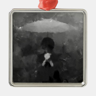 Ornamento De Metal Na pintura escura da arte da chuva