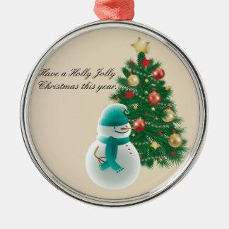 Ornamento De Metal Natal alegre do azevinho