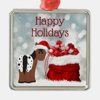 Ornamento De Metal Natal bonito dos presentes do cavalo n do papai