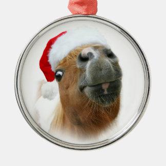Ornamento De Metal Natal engraçado do cavalo