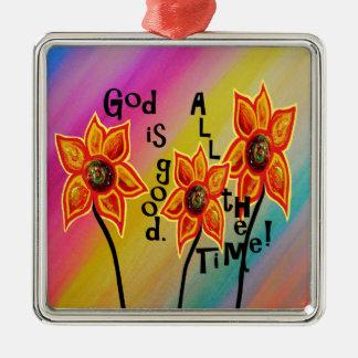 Ornamento De Metal O deus é bom todo o tempo