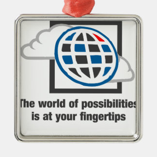 Ornamento De Metal O mundo das possibilidades está em suas pontas do