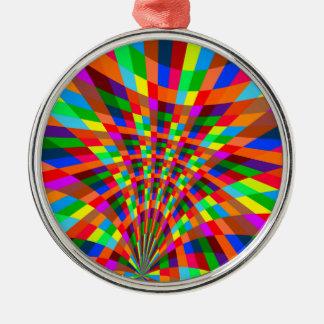 Ornamento De Metal O teste padrão abstrato colorido moderno colore o