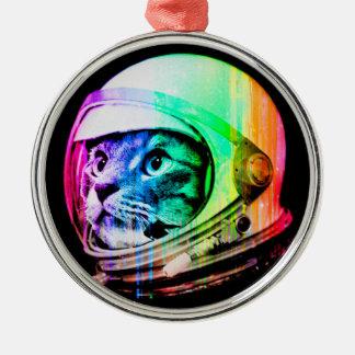 Ornamento De Metal os gatos coloridos - astronauta do gato - espaçam