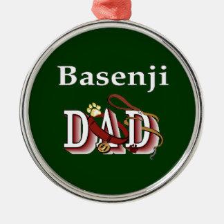 Ornamento De Metal Pai de Basenji