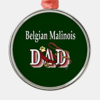 Ornamento De Metal Pai de Malinois do belga