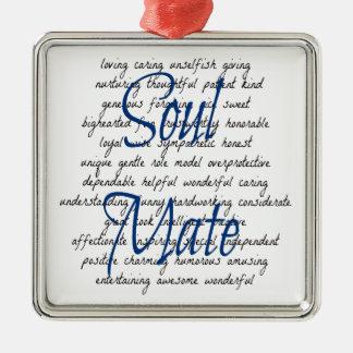 Ornamento De Metal Palavras para a alma gémea