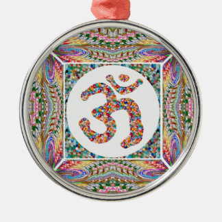 Ornamento De Metal Paz do indiano da ioga da hinduísmo de OmMantra da