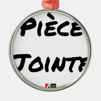 Ornamento De Metal PEÇA EM ANEXO - Jogos de palavras - François