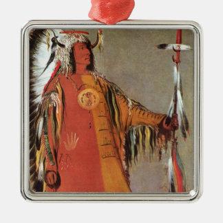 Ornamento De Metal Portait do chefe indiano Mato-Tope por George