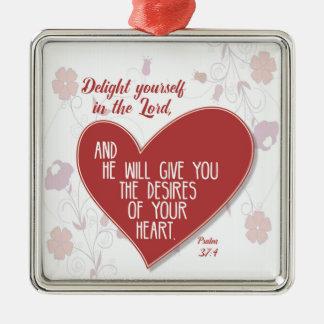 Ornamento De Metal Prazer você mesmo do 37:4 do salmo no senhor…